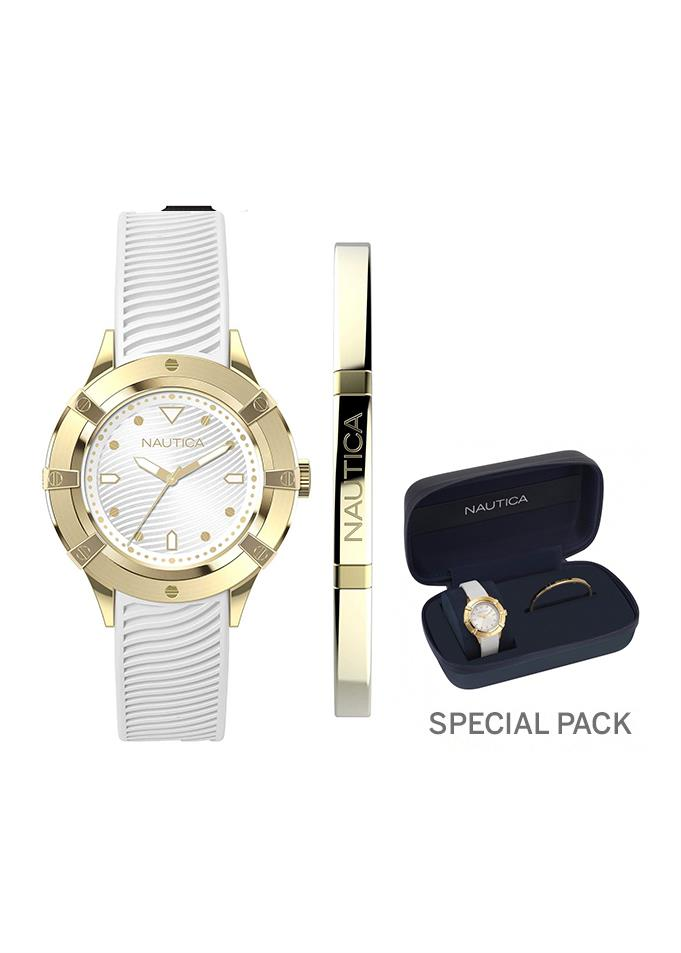 NAUTICA Ladies Wrist Watch Model CAPRI MPN Wrist Watch + fashion jewel bracelet, gift set NAPCPR007