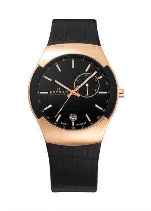SKAGEN DENMARK Gents Wrist Watch Model BLACK LABEL 983XLRLDB